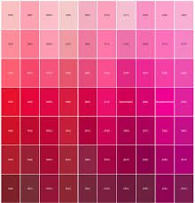 Pantone Colour Chart Pink Logo Pantone Color Matching Red And Pink In 2019 Pantone