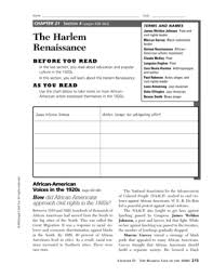 Fillable Online Chapter 21 The Harlem Renaissance Fax Email