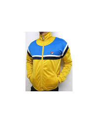 fila yellow top. fila vintage business golf track top yellow/french blue yellow +