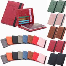 Designer Bus Pass Holder Rfid Safe Passport Wallet Leather Designer Travel Document Cover Card Holder