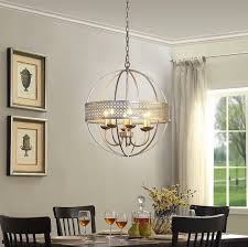 victoria orb 6 light distressed silver chandelier view full size