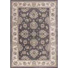 kas oriental rugs avalon grey and ivory kashan rectangular 3 ft 3 in x 5 ft 3 in rug