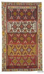 red vintage adana kilim rug 6 7 x 11 2 79 in x 134 in
