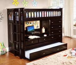 2903_espresso_all_in_one_loft_bed bedroom furniture pieces