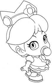 baby princess coloring pages baby princess peach with mario coloring pages mario bros