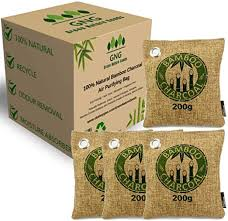 4 Bags <b>Premium Natural Bamboo</b> Activated Charcoal Air Fresh ...