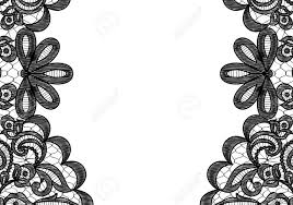 Black And White Greeting Card Wedding Invitation Or Greeting Card With Black Lace Borders On