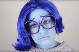 inside out diy sadness costume makeup for ideas wonderhowto