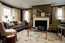 how to decorate a living room with a fireplace home round