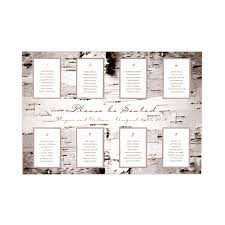 The Knot Wedding Seating Chart Seating Chart Kit With Birch Bark Design