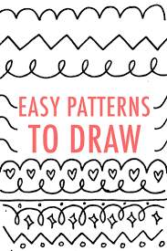 How To Draw Patterns Fascinating Easy Patterns To Draw Design Your Own Pattern