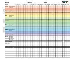 Blank Mood Chart Pdf Psychiatry 24x7