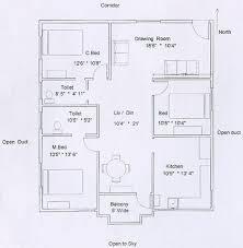 floor plan 3 bedroom flat plan drawing