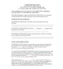 Temporary Employment Contract Template 5 Temporary Employment Agreement Templates Doc Contract