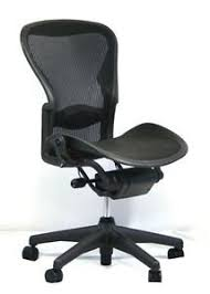 Details About Herman Miller Aeron Mesh Office Desk Chair No Arms Size C Basic With Lumbar