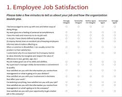 Employment Survey Template Under Fontanacountryinn Com