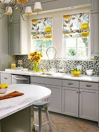 Yellow And Gray Kitchen Decor Cool White Kitchen Gray Counter Gray Floor Picture Small Kitchen
