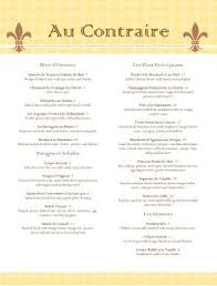French Bistro Menu Template Finedining Frenchrestaurant Classic