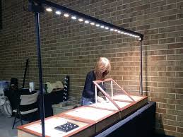 jewelry display cases with high power led trade show lighting