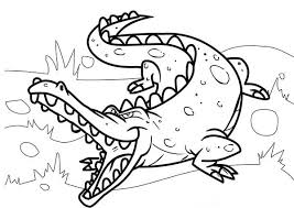 Small Picture Crocodile Sharp Teeth Coloring Page Crocodile Sharp Teeth