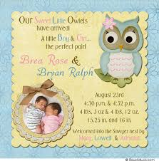 twin birth announcements photo cards boy or girl baby announcement oyle kalakaari co
