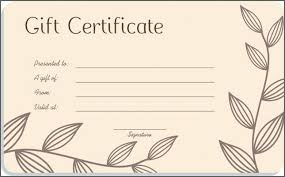 Blank Massage Gift Certificate Template Templates Free