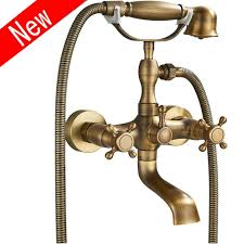 wall mount two cross handles tub faucet