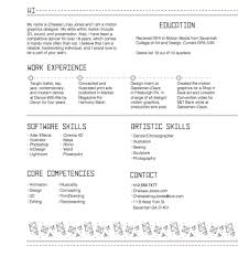 Motion Graphics Resume Resume Peppapp