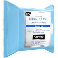 neutrogena cleansing makeup remover cleansing towelettes frag free 25 ct 6 per case
