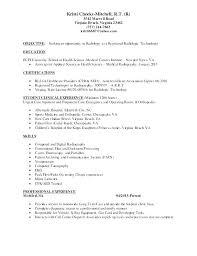 Resume Ideas Interesting Resume Objective Examples Radiologic Technologist Fruityidea Resume