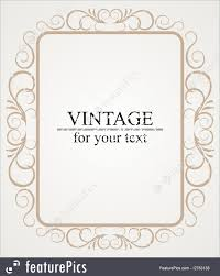 templates vintage frame or border design vector