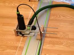 how to mount dewalt router on festool guide rails