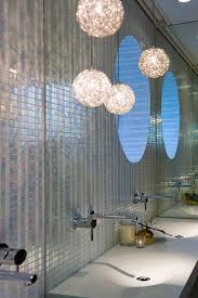 apartment in sydney gives all you need limited space bathroom vanity mirror pendant lights glass
