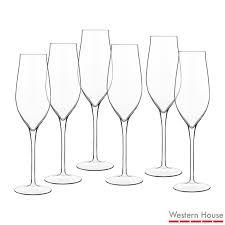 luigi bormioli vinea crystal glass champagne flutes 6 pack