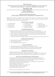 Dental Assistant Skills For Resume Free Resume Templates