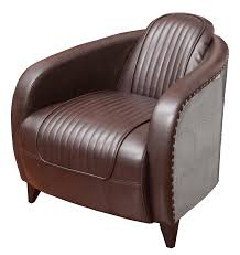 aviator leather side chair