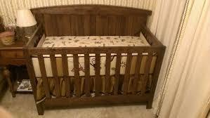 custom made solid oak farm style crib