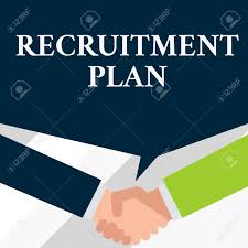 Design A Recruitment Plan Conceptual Hand Writing Showing Recruitment Plan Concept Meaning