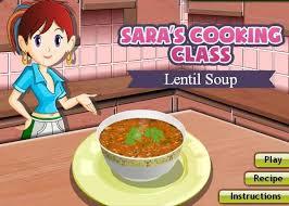 saras cooking cl game lentil soup recipe