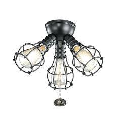kichler fan light kit industrial 3 light ceiling fan light kit reviews kichler monarch fan light