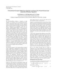 finite difference methods for the two dimensional advection diffusion equation