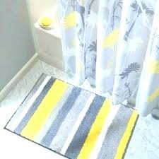 striped bathroom rug gray and white