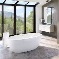 standalone bathtub with also full cozy