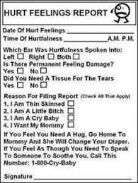 hurt feelings report form hurt feelings report hahahahahah office rules and tools