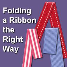 Folding A Ribbon The Right Way Scrapbook Campus