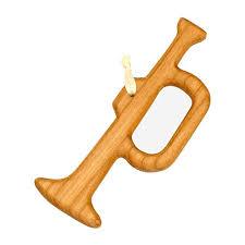 Christbaumschmuck Aus Holz Trompete Tannenbaumschmuck