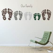 Small Picture personalised footprint wall art stickers by name art