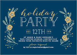 Holiday Party Invitations Match Your Color Style Free Basic