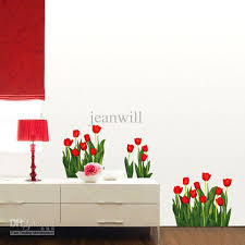 >tc2121 red tulip wall decal sticker decor flower mural art wall  tc2121 red tulip wall decal sticker decor flower mural art wall stickers decals removable wall stickers nursery removable wall stickers quotes from jeanwill