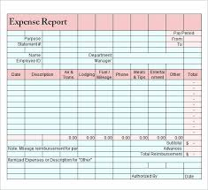 Excel Travel Expense Report Template Expense Report Form Generic Reimbursement Template Meaning